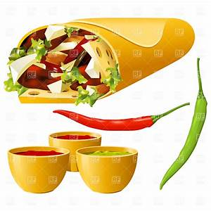 Mexican food - burrito and hot pepper, 4706, Food and ...