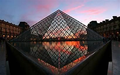 Louvre Pyramid Paris Buildings Architecture France Building