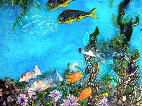 """Fused Glass """"Pacific Coast Underwater Scene""""   Designer"""