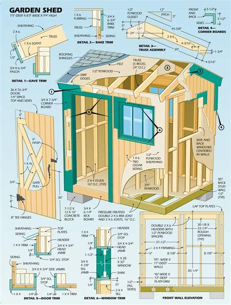diy shed click  link  plans illustration