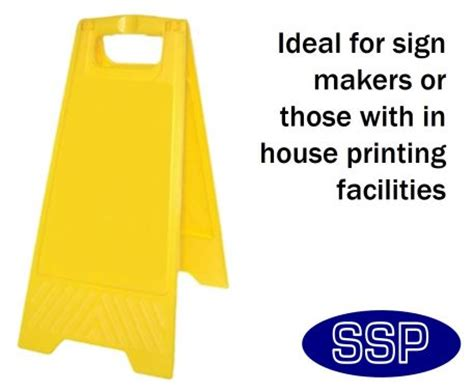 blank folding sign  signmakers  pack safety signs