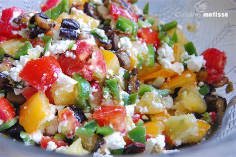salade aux l 233 gumes feta et pesto cuisine metisse