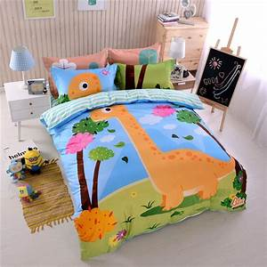 Kids, Dinosaur, Print, Bedding, Set, Twin, Queen, Size, Ll