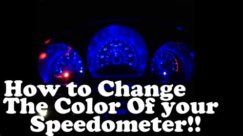 change the color of your how change the color of your speedometer