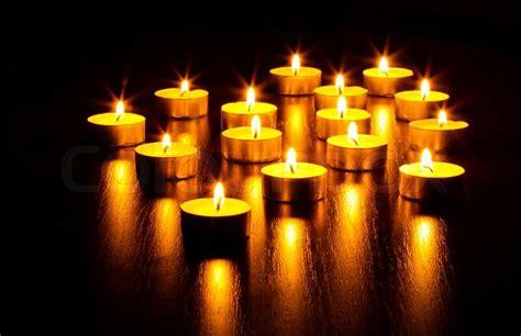 Many Burning Candles  Stock Photo Colourbox