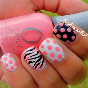 zebra nail designs on pinterest animal nail designs With easy cute nail designs at home