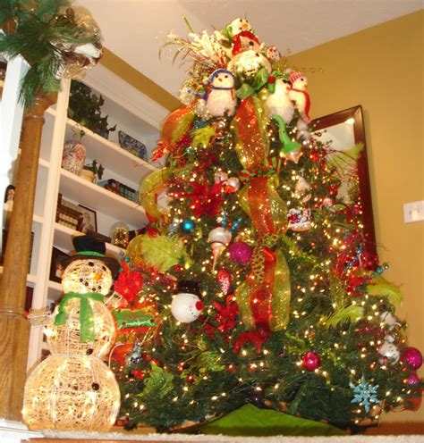 snowman tree picture perfect christmas decorating pinterest