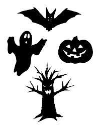 shadow puppets printable bat spider haunted house