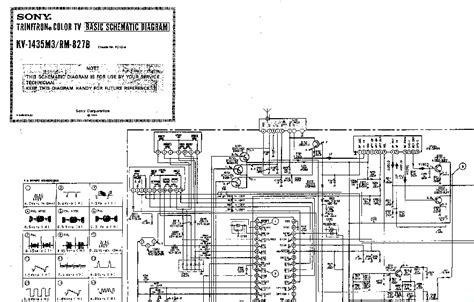 Diagram Of Sony by Sony Trinitron Kv 1435m3 Rm 827b F21ga Chassis Service