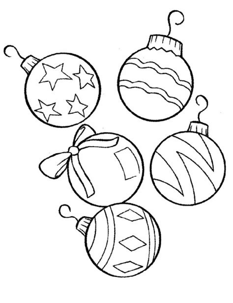 Christmas Ornament Coloring Pages Coloringsuite