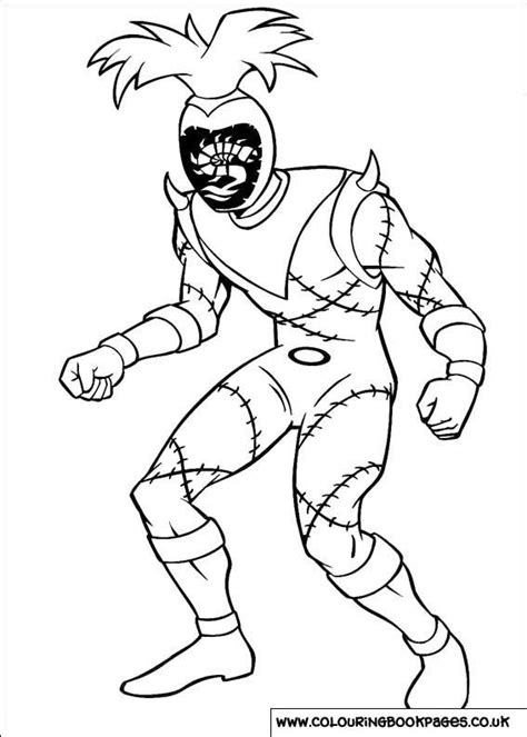 power rangers colouring pages  character printable