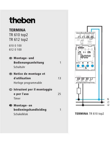 theben tr 610 top2 mode d emploi theben tr 610 top2 thermostat fran 231 ais t 233 l 233 charger pdf zip