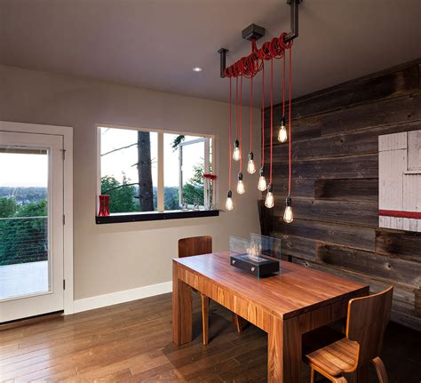 dining lighting rustic wall modern home  eugene