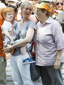 Cynthia Nixon and wife Christine Marinoni at Gay Pride ...