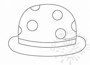 carnival coloring page With clown hat template