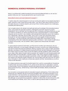 Biomedical Science Personal Statement