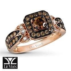 chocolate engagement ring jared le vian chocolate 3 4 ct tw ring 14k strawberry gold