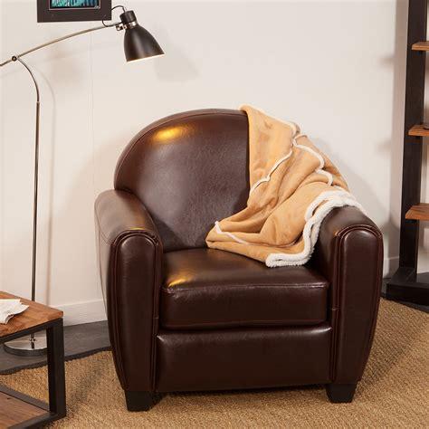 cuir pour fauteuil club fauteuil club cro 251 te de cuir enduite bycast brun tennessee