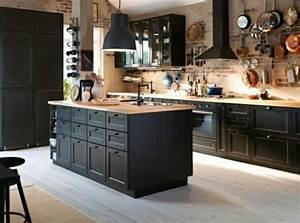 Une cuisine noire elegance et raffinement assures for Decoration pour mur exterieur de jardin 15 une cuisine noire elegance et raffinement assures