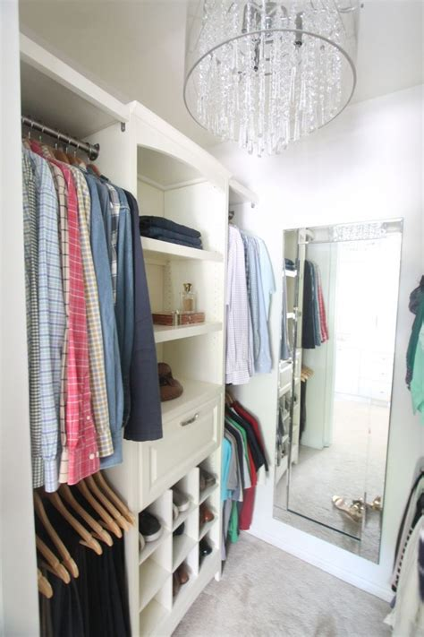 Inexpensive Closet Organization Ideas with the addition of a do it yourself closet system