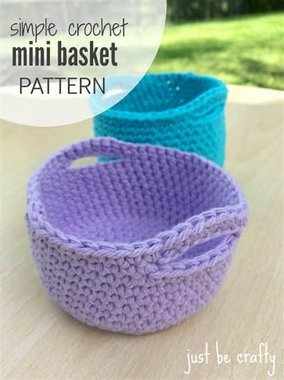 Crochet Pattern Mini Basket Baskets Patterns Easy