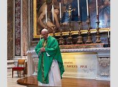 At Mass near John Paul's tomb, pope focuses on