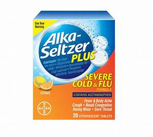 Alka-Seltzer Plus Severe Cold & Flu Effervescent Tablets ...