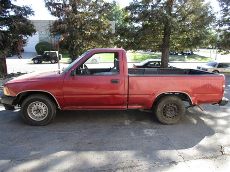 Toyota Truck Red Half Ton Short Bed