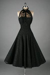 Vintage 1950's Paul Sachs Black Tuxedo Lace Cocktail Dress ...