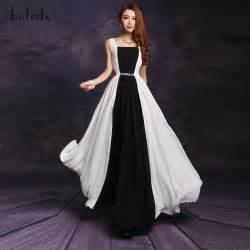 2013 summer fashion black and white patchwork chiffon long
