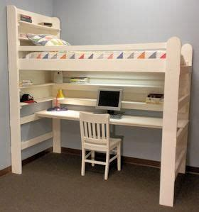 bunk bed desk combo plans downloadable  kids loft