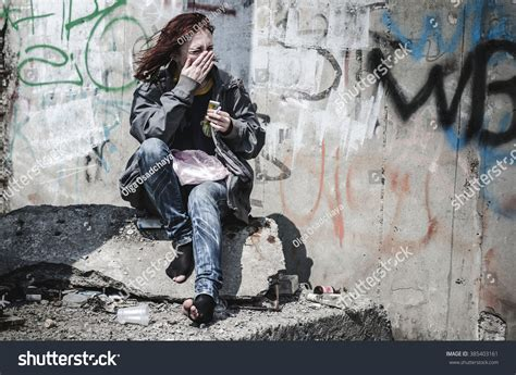 Young Girl Old Dirty Ragged Clothes Stock Photo 385403161 - Shutterstock