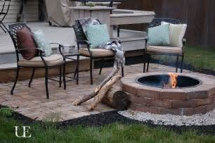 diy paver patio and pit raised patio backyards and
