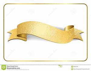 Gold Ribbon Foil On White 1 Stock Vector - Image: 68560459