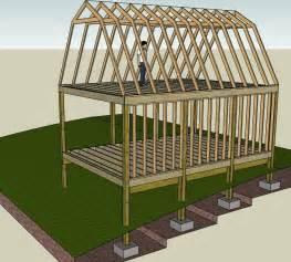 gambrel roof trusses small cabin forum 1