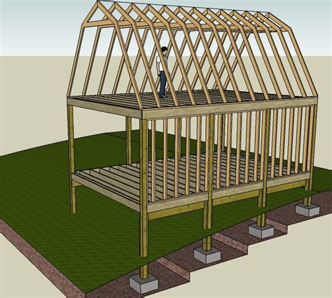 Gambrel Shed Plans 16x20 by 20 X 30 Cabin On The Illinois River In Oklahoma