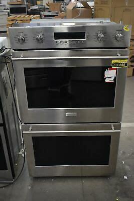 ge monogram zetshss  stainless electric double wall oven nob  ebay