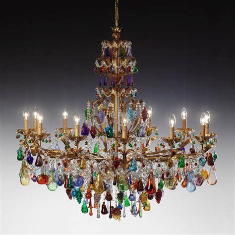 Murano Glas Leuchter by Radon Lightshop Muranoglasleuchter Luster E14 40w