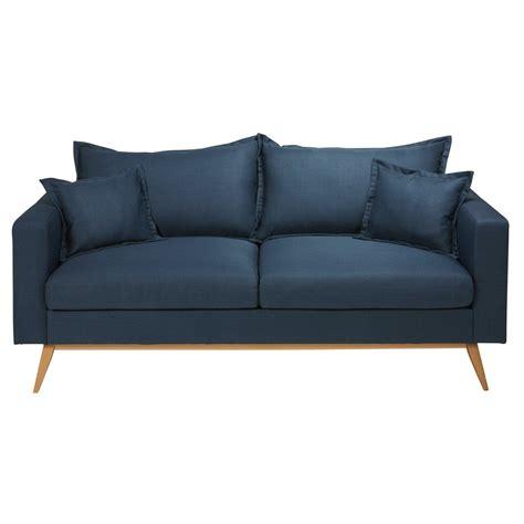 canapé tissu bleu canape dangle bleu nuit ciabiz com