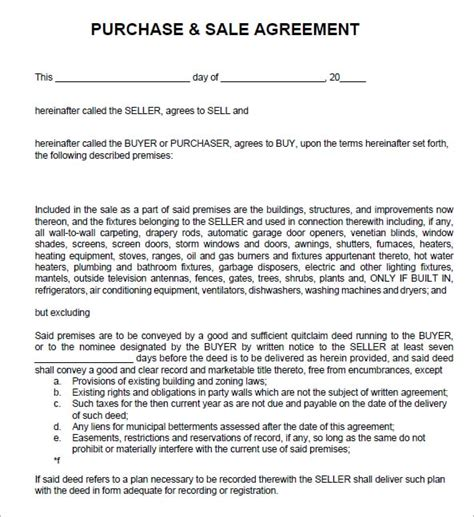 sales agreement templates excel  formats