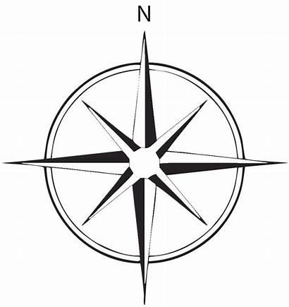 Compass North True Vector Rose Graphic Clip