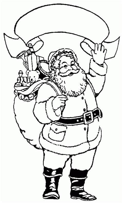 der weihnachtsmann ausmalbild malvorlage weihnachten