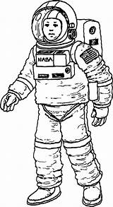 Astronaut Coloring Nasa Pages Mouse Wecoloringpage Mickey Character sketch template