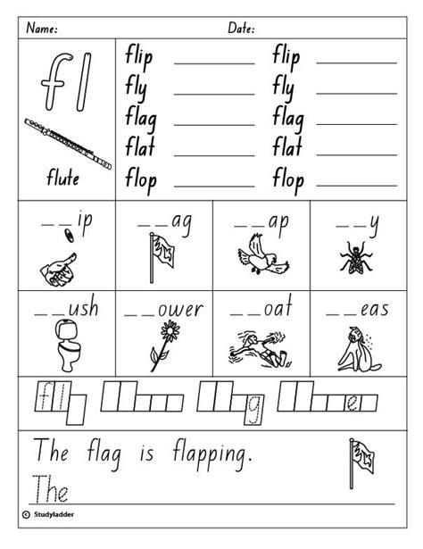 consonant blend fl studyladder interactive learning games