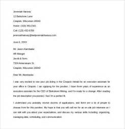 job resume template pdf sle executive assistant cover letter 9 download free documents in pdf word