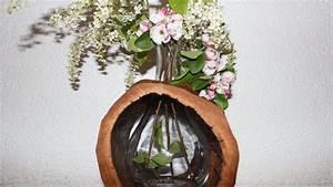 Baumstamm Deko Säule : natur deko ausgeh hlter baumstamm als vase natural decoration hollowed out tree trunk as a ~ A.2002-acura-tl-radio.info Haus und Dekorationen