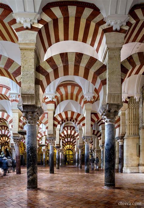 cordoba spain islamic architecture mezquita mosque andalusia church influence islam roman cathedral andalucia catholic domingo leiva places buildings mosques columnas