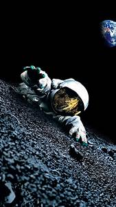 Apollo 18 Moon Astronaut Android Wallpaper free download