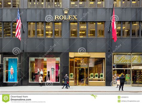 Rolex Store Nyc Editorial Stock Image  Image 40332074