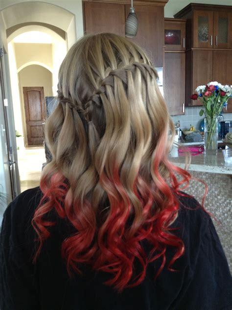 Red Ombr Hair Kool Aid Dip Dye Kool Aid Pinterest